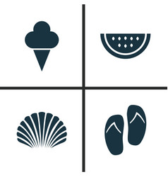 season icons set collection of sweets forceps vector image
