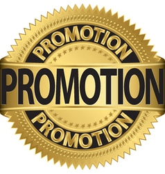 promotional Gold label vector image