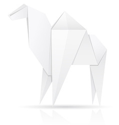 origami paper camel vector image