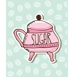 Sugar porcelain design vector