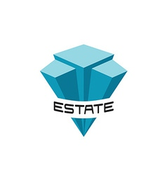 Real estate buildings logo template vector