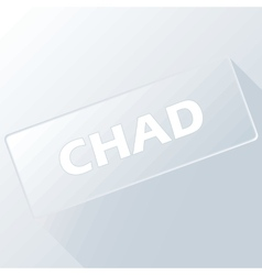 Chad unique button vector