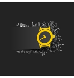 Drawing business formulas watch vector
