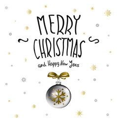 Merry christmas christmas calligraphy handwritten vector