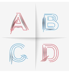 Creative graphic alphabet vector