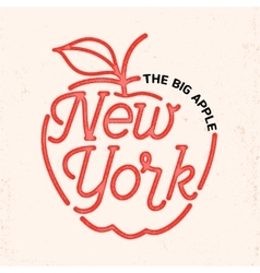 New york city line art design vector