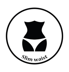 Icon of slim waist vector