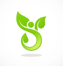 Abstract people spa ecology logo vector