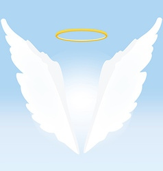 Angel wings and nimbus vector image vector image