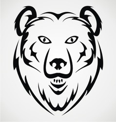 Bear face tribal vector