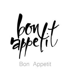 Bon appetit template vector