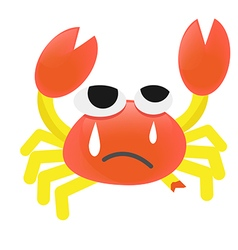 Cartoon crab injured vector