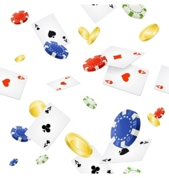 Casino Background Seamless vector image vector image