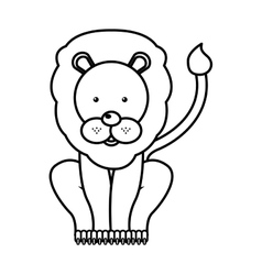 Circus lion isolated icon design vector