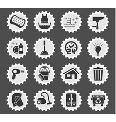 Cleaning company icon set vector