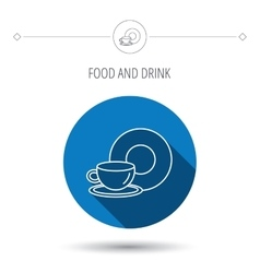 Coffee cup icon Food and drink sign vector image vector image