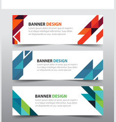 Colorful abstract triangle corporate business vector