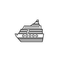 Cruise line icon travel tourism vector