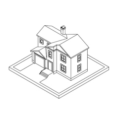 drawing of private house vector image