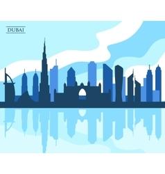 Dubai skyline vector