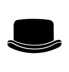 Elegant hat hipster style isolated icon design vector