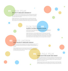 four steps template with circles vector image vector image