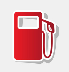 Gas pump sign new year reddish icon with vector