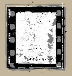 grunge film elements vector image