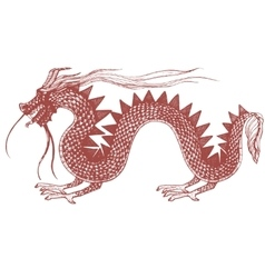 hand drawn of dragon vector image vector image