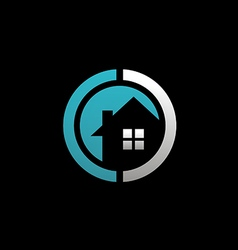 House realty round logo vector