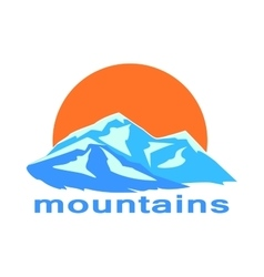 Mountains and the sun symbolic vector image