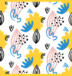 scandinavian hand drawn seamless pattern vector image vector image