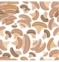 seamless texture with oyster mushrooms for your vector image