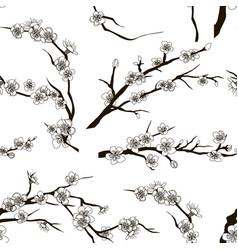 Set of sakura japan cherry pattern vector