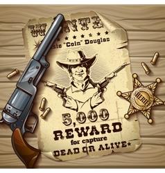 Sheriff Stars Vintage Design vector image vector image