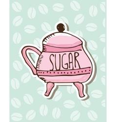 sugar porcelain design vector image