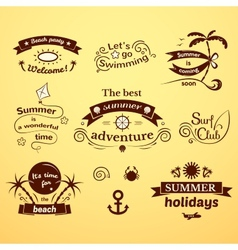 Summer signs set vector image