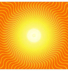 Sunburst Hot Heat Ray Background vector image