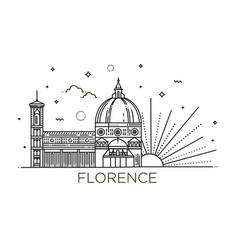 The cattedrale di santa maria del fiore - the vector