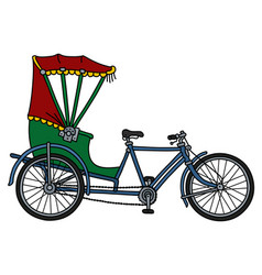 The classic tricycle rickshaw vector