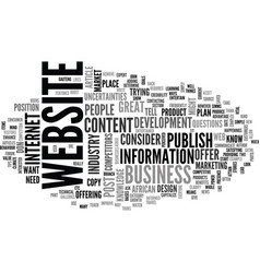 What to publish on your website content vector