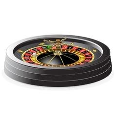 Casino roulette wheel vector image