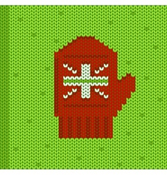 Red mitten vector image
