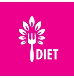 Logo for diet vector