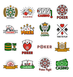 casino poker templates of chips and gamble vector image