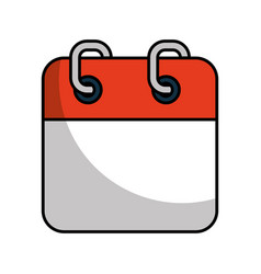 Calendar reminder isolated icon vector