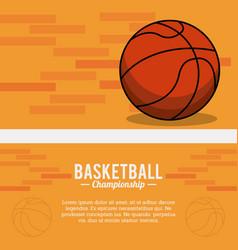 Basketball sport ball championship poster vector