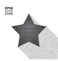 Halftone star vector