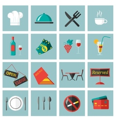 Restaurant food icons set vector