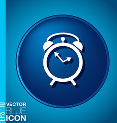 Symbol morning alarm icon the clock shows the vector